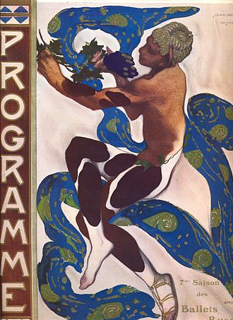 Afternoon of a Faun (Nijinsky) - Programme illustration by Léon Bakst for the ballet