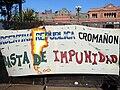 Bandera 'Basta de Impunidad' - República Cromagnon.jpg
