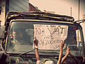 Bangladesh private University students protests against the imposition of vat.JPG