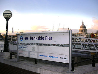 Bankside Pier - The gangway at Bankside Pier