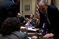 Barack Obama speaks with Senior Advisor David Axelrod, 2009.jpg