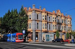 East Portland, Oregon - The Barber Block was built in 1889–90 in East Portland.