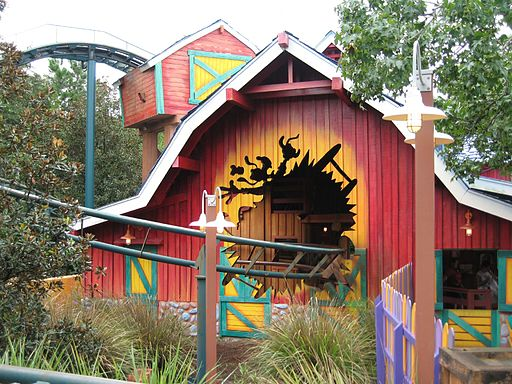 Barnstormer at Magic Kingdom - barn