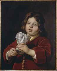 Portrait of a Boy holding a Silver Drinking Cup