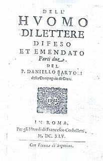 <i>Lhuomo di lettere</i> book by Daniello Bartoli
