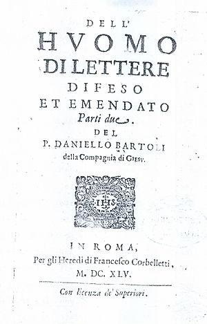 L'huomo di lettere - Rome: Francesco Corbelletti, 1645