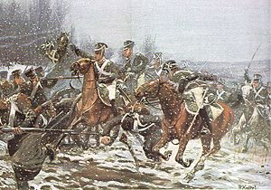 Campaign in north-east France (1814) - Württemberg dragoons at the battle of La Rothière, by Richard Knötel