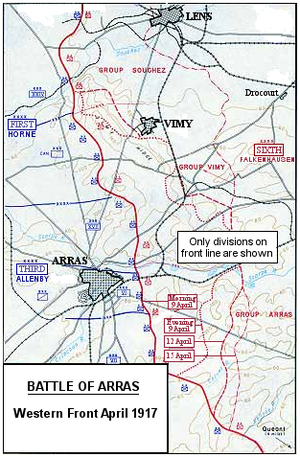 Battle of Arras in April 1917