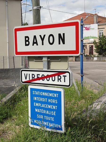 Bayon (M-et-M) city limit sign