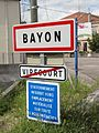 Bayon (M-et-M) city limit sign.jpg
