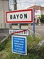Bayon (M-et-M) city limit sign.jpg