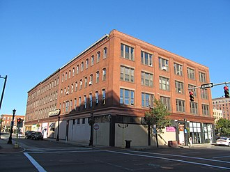 National Register of Historic Places listings in Springfield, Massachusetts - Image: Baystate Corset Block, Springfield MA