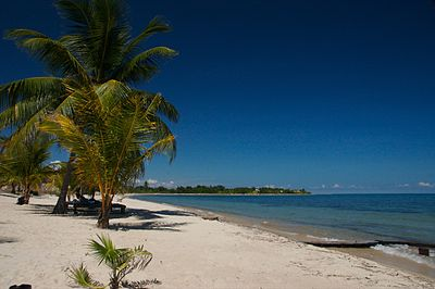 Maya Beach, Placencia Beach front at Placencia, Belize.jpg