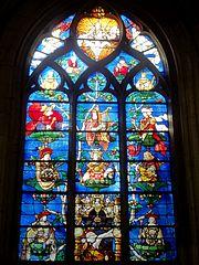 Beauvais (60), église Saint-Étienne, baie n° 5 a