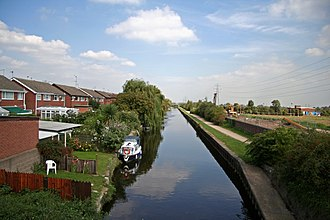 Beeston, Nottinghamshire - The Beeston Canal passing through Rylands