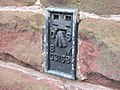 Benchmark, on All Saints Church, Hoole, Chester - geograph.org.uk - 665821.jpg