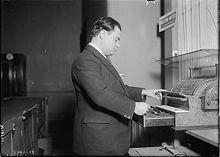 Il tenore Beniamino Gigli.