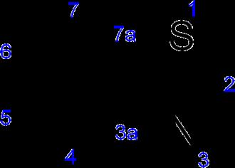 Benzothiazole - Image: Benzothiazole numbering