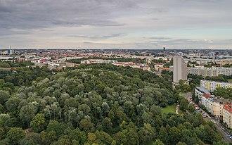 Volkspark Friedrichshain - Aerial view of Volkspark Friedrichshain