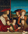 Bernhard Strigel - Emperor Maximilian I with His Family - Google Art Project.jpg