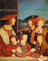 Emperor Maximilian I and his family.