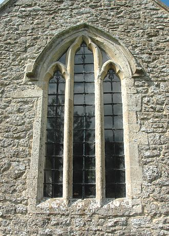 Besselsleigh - St Lawrence's parish church: 13th century east window of chancel