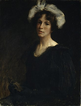 Bessie Potter Vonnoh - Portrait of Bessie Potter by William Merritt Chase (ca. 1895)