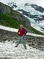 Bigfoot sighting on a snowfield near Byron Glacier (6480085741).jpg