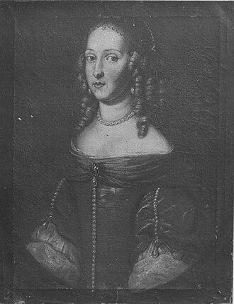 Marie Hedwig of Hesse-Darmstadt - Image: Bildnis der Landgräfin Marie Hedwig von Hessen Darmstadt, Tochter des Landgrafen Georg II., Herzogin von Sachsen Meiningen (1647 1680)