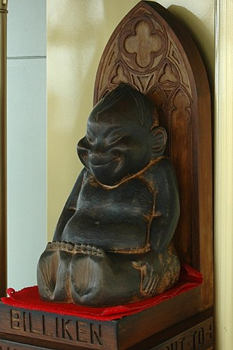 Billiken - Wooden statue of the Billiken in Tsutenkaku Tower