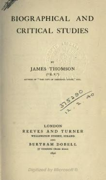 "Biographical and critical studies by James Thomson (""B.V."").djvu"