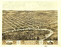 Bird's eye view of the city of Marengo, Iowa Co., Iowa 1868. LOC 73693400.jpg