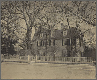 Edward Everett - Birthplace of Everett in Dorchester, Massachusetts. ca.1898 photo