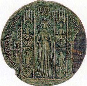 Blanche of Namur - The seal of Blanche of Namur as Queen