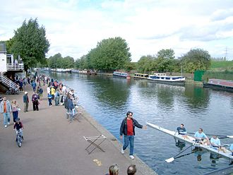 Rowing boat on the River Lea Boats on river lea.jpg