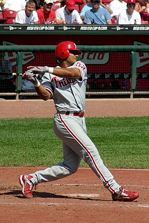 Bobby Abreu - Abreu batting for the Philadelphia Phillies.