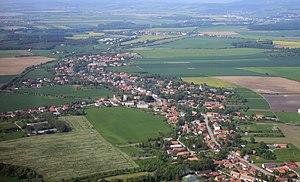 Bohuslavice (Náchod District) - Air view
