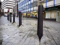 Bollards, Blue Carpet Square (geograph 1672930).jpg