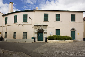 "Gibraltar Museum - Ordnance House or ""Bomb House"", home to the Gibraltar Museum."