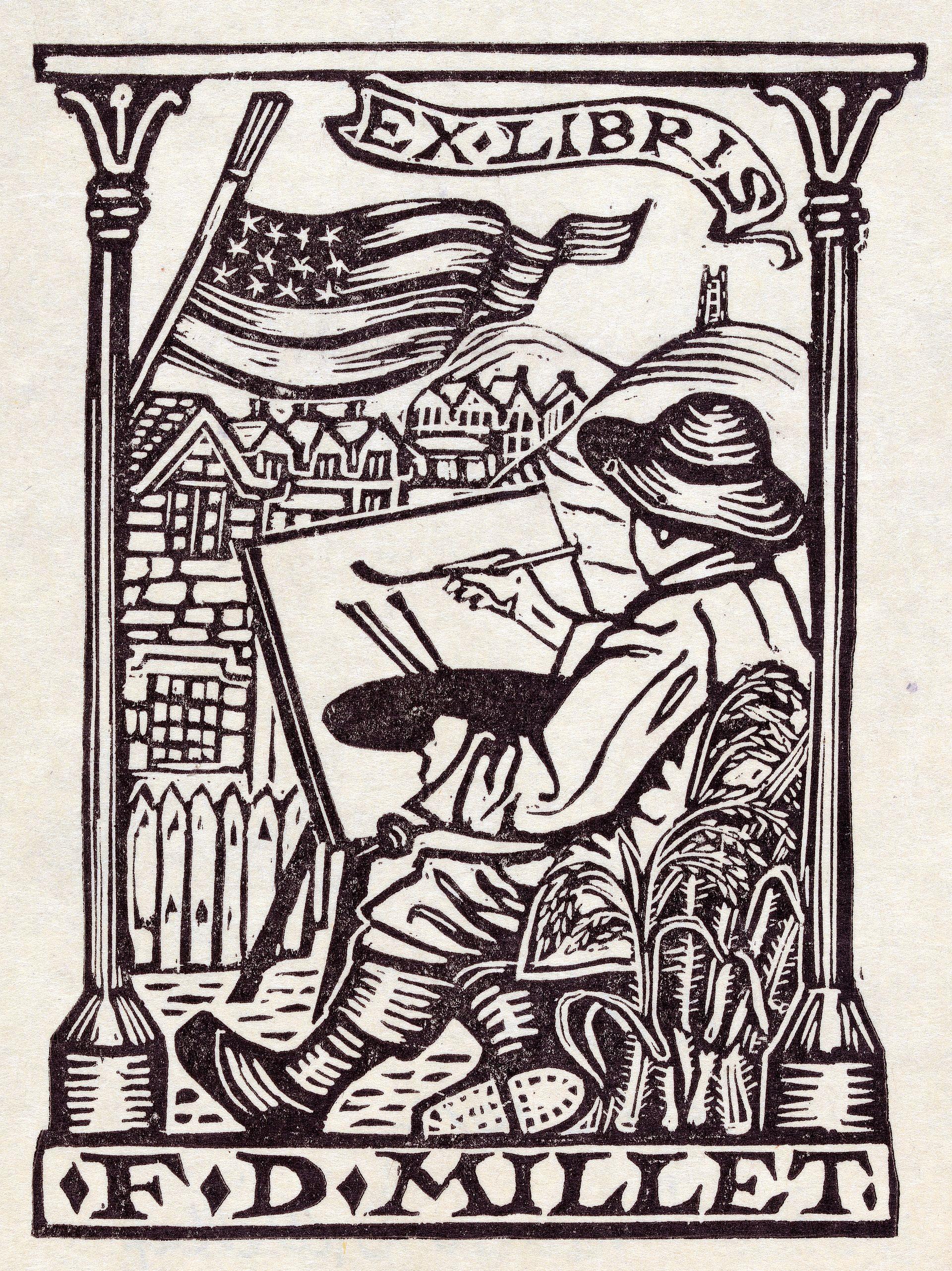 Ex Libris (Bookplate) by M.C. Escher | Skot Foreman Gallery