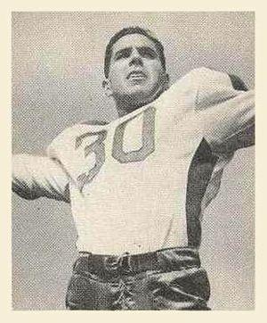 Bosh Pritchard - Pritchard on a 1948 Bowman football card