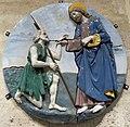 Bottega di luca della robbia il giovane, christo conforta un povero, copia da modello logguia di san paolo a fi, post 1493.JPG