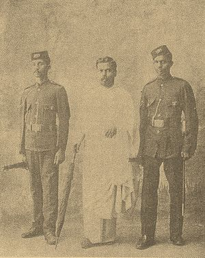 Walisinghe Harischandra - Brahmachari After taken Into the Police Custody By the Britishers In 1903.