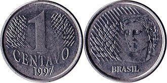 Brazilian real - Image: Brazil R$0.01 1997