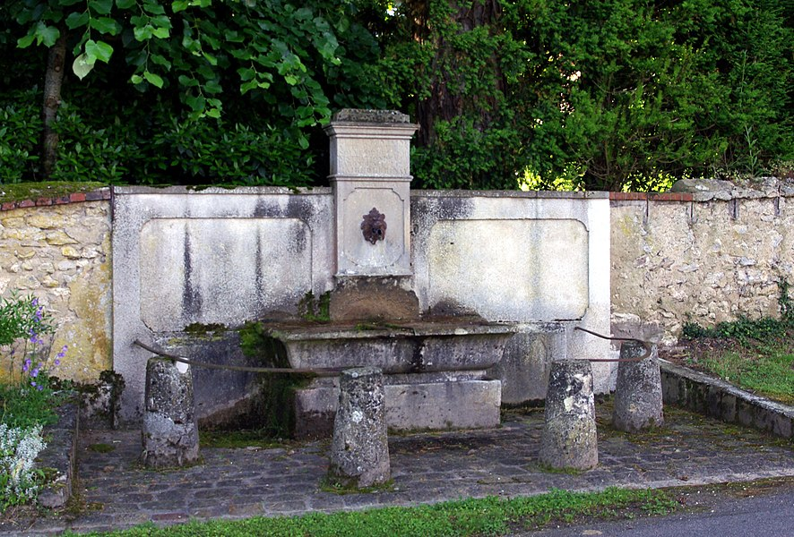 Fountain in Brinay (France, Cher)