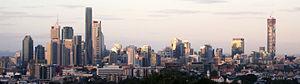 Brisbane city skyline, May 2013