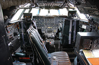 Bristol Britannia - The flight deck of Britannia 312 G-AOVT