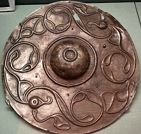 circular bronze shield boss