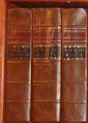 History of the Encyclopædia Britannica - First edition replica.