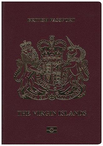 British passport (British Virgin Islands) - The front cover of a biometric British Virgin Islands passport.